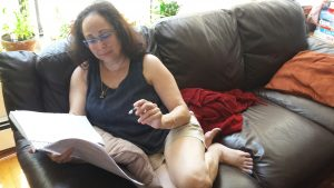 Carla reading