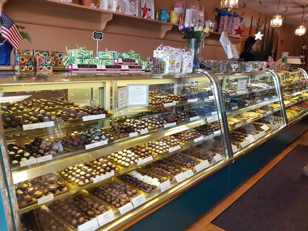 case full of chocolates