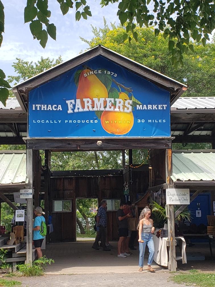 Ithaca Farmers Market entrance