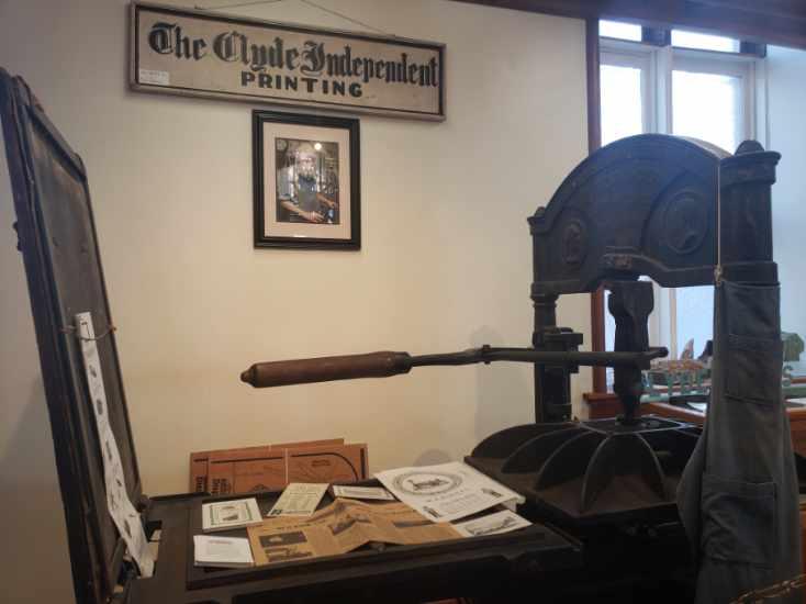 Printing Press, Brick Church Museum