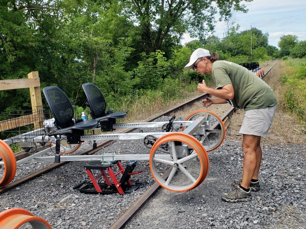 Kathy turns rail riders around