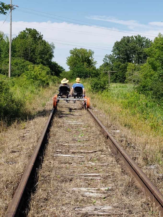 fellow rail riders in Penn Yan