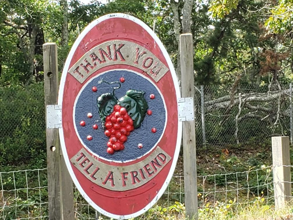 sign at cranberry bog