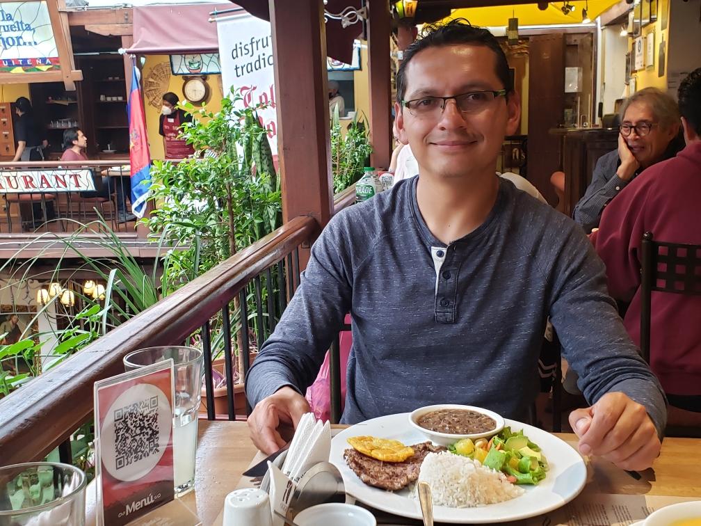 Rafael at lunch